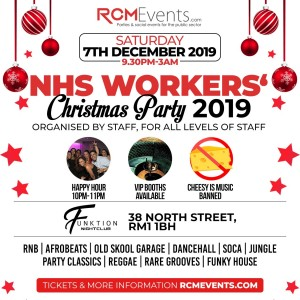NHS Xmas Party 2019 Flyer
